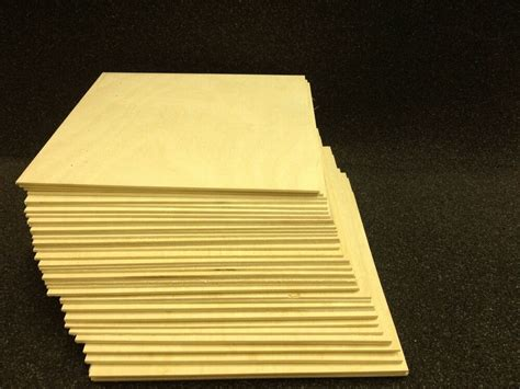 """1/4""""(6mm) x 12"""" x 12"""" Baltic Birch Plywood for Laser, CNC"""