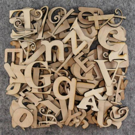 Over 75 Small Wooden Letters Craft Shape 3mm Plywood 2-5cm