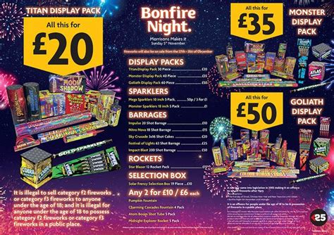 The best firework offers and bundle deals from Aldi, Tesco