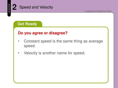 PPT - Speed and Velocity PowerPoint Presentation, free