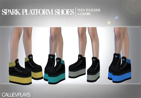 Spark platform shoes at CallieV Plays » Sims 4 Updates