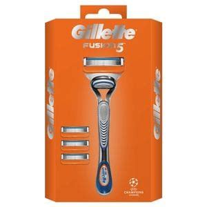 Gillette Fusion 5 Manual Razor and 4 Blades Special Pack