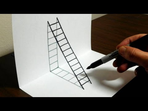 How to Draw Pine Tree - Drawing 3D Illusion with Graphite