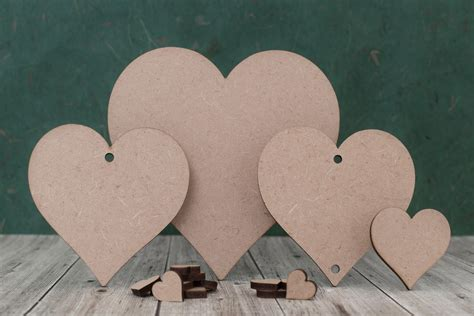 3mm MDF heart shapes - wooden craft blanks