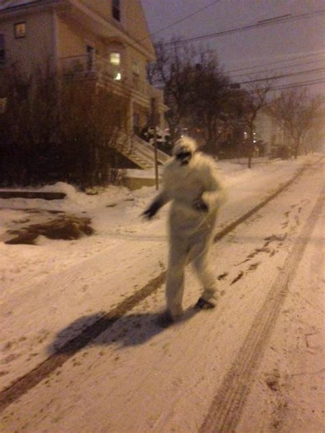 Boston Yeti on the loose during blizzard of 2015