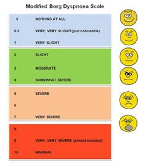 sob borg scale - Google Search | Physical Therapy