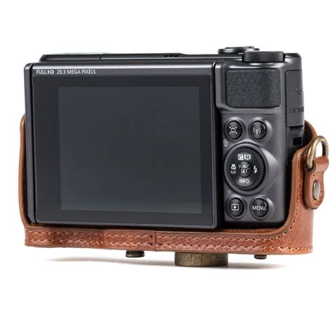 MegaGear Genuine Leather Camera Case for Canon PowerShot