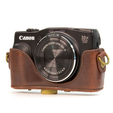 MegaGear Protective Leather Camera Case for Canon