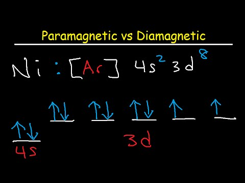 Chemistry - Periodic Variations (23 of 23) Paramagnetic
